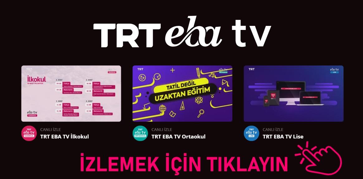 TRT EBA TV Uzaktan Eğitim İnternetten Canlı İzleyin