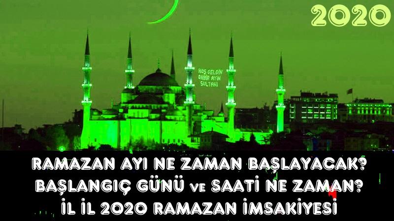İl İL 2020 Ramazan İmsakiyesi