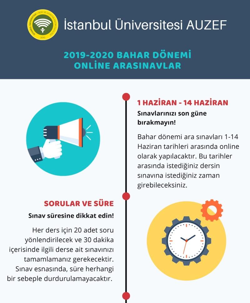 AUZEF'den Online AraSınav Bilgilendirmesi