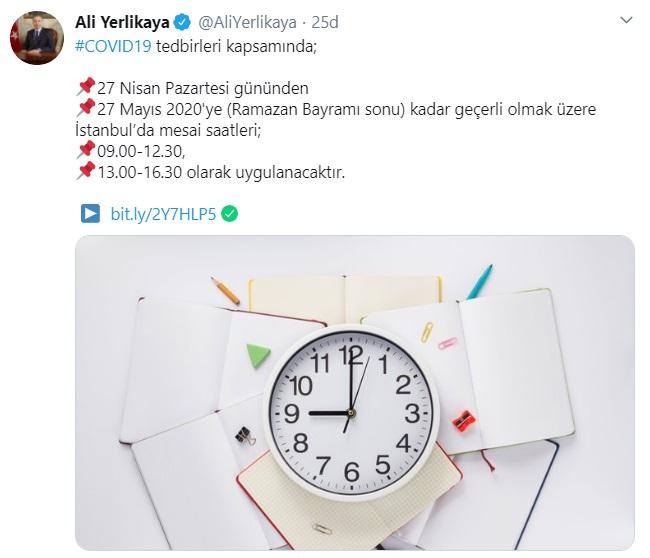İstanbul Valiligi Mesai Saatleri Ramazan düzenlemesi