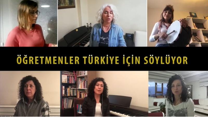 """Öğretmenler Türkiye için """"Cemilem"""" Türküsünü söyledi"""