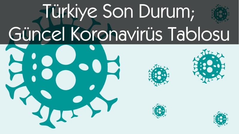 Türkiye Son Durum; Güncel Koronavirüs Tablosu: 28 Aralık 2020 Pazartesi