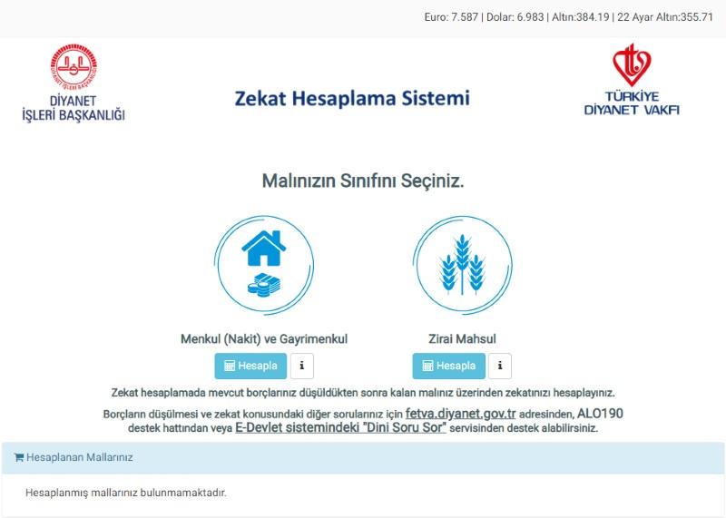 Diyanet Zekat Hesaplama Sistemi