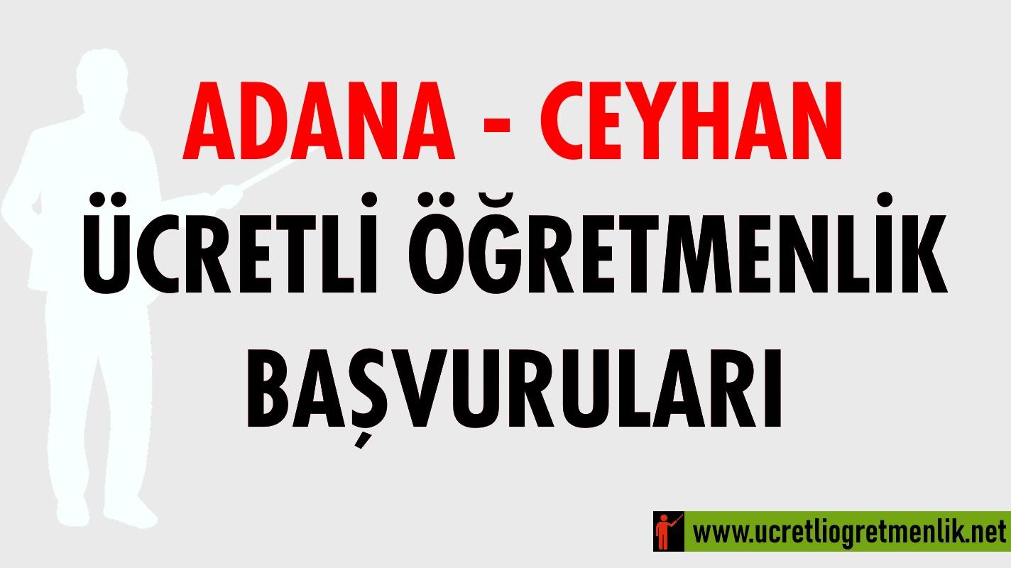 Adana Ceyhan Ücretli Öğretmenlik Başvuruları (2020-2021)