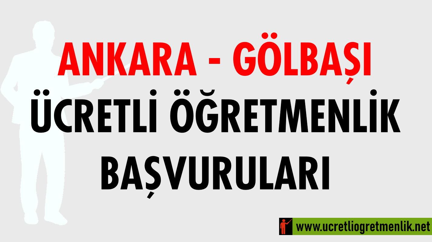 Ankara Gölbaşı Ücretli Öğretmenlik Başvuruları (2020-2021)