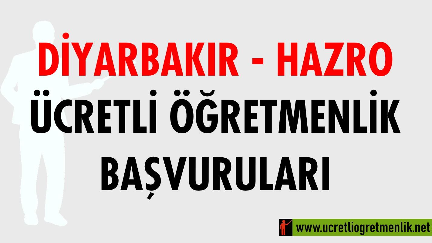 Diyarbakır Hazro Ücretli Öğretmenlik Başvuruları (2020-2021)