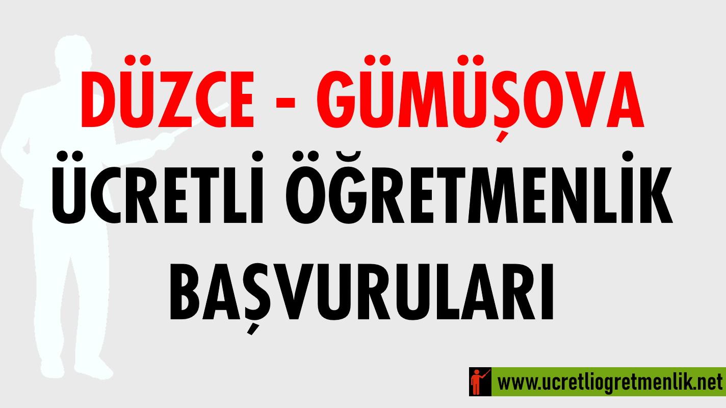 Düzce Gümüşova Ücretli Öğretmenlik Başvuruları (2020-2021)