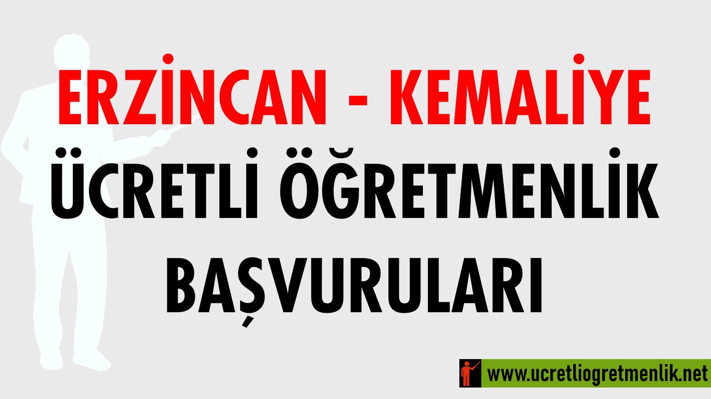 Erzincan Kemaliye Ücretli Öğretmenlik Başvuruları (2020-2021)