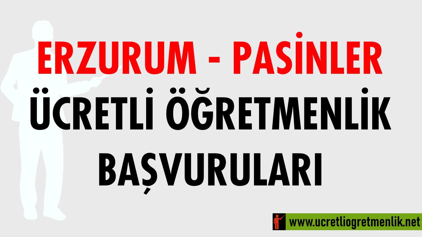 Erzurum Pasinler Ücretli Öğretmenlik Başvuruları (2020-2021)