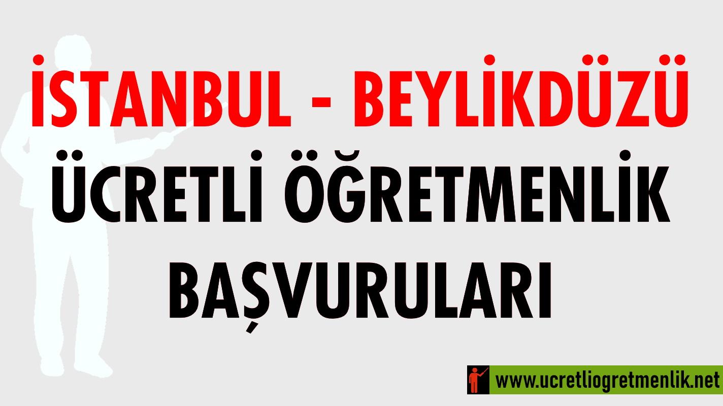 İstanbul – Beylikdüzü Ücretli Öğretmenlik Başvuruları (2020-2021)