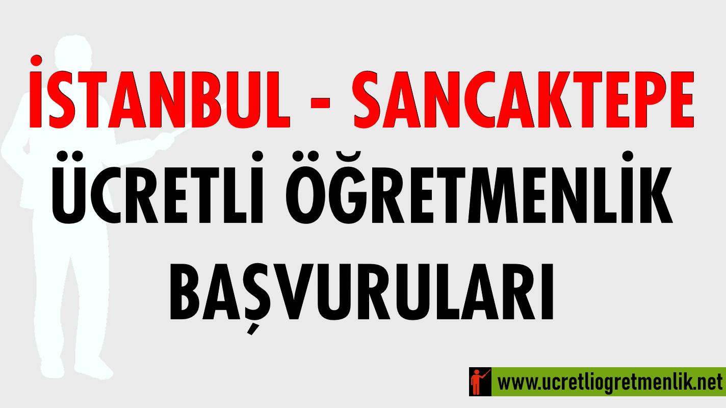İstanbul – Sancaktepe Ücretli Öğretmenlik Başvuruları (2020-2021)