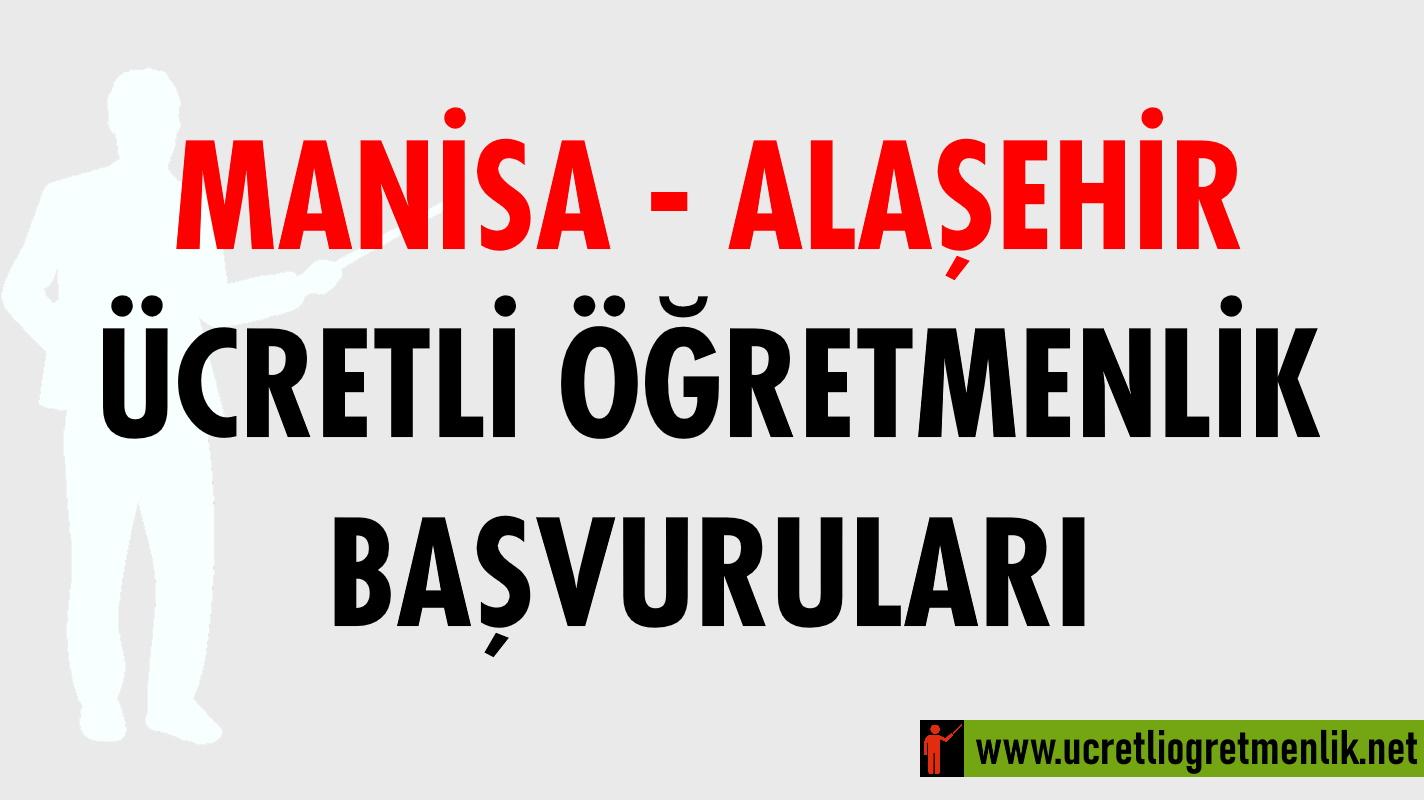 Manisa Alaşehir Ücretli Öğretmenlik Başvuruları (2020-2021)