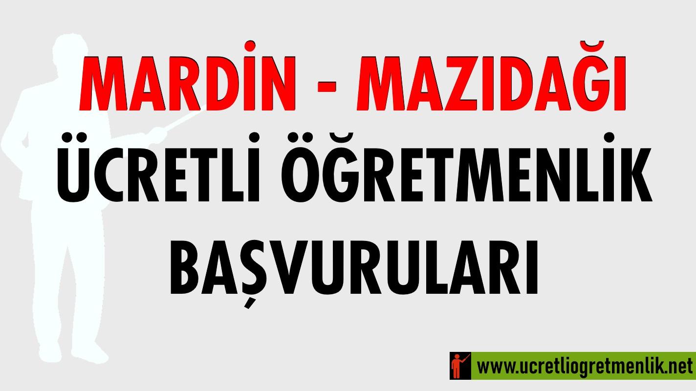 Mardin – Mazıdağı Ücretli Öğretmenlik Başvuruları (2020-2021)
