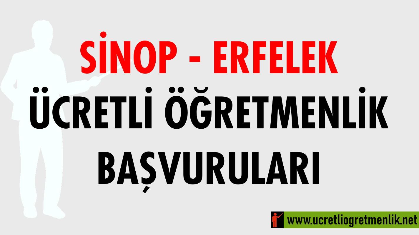 Sinop Erfelek Ücretli Öğretmenlik Başvuruları (2020-2021)