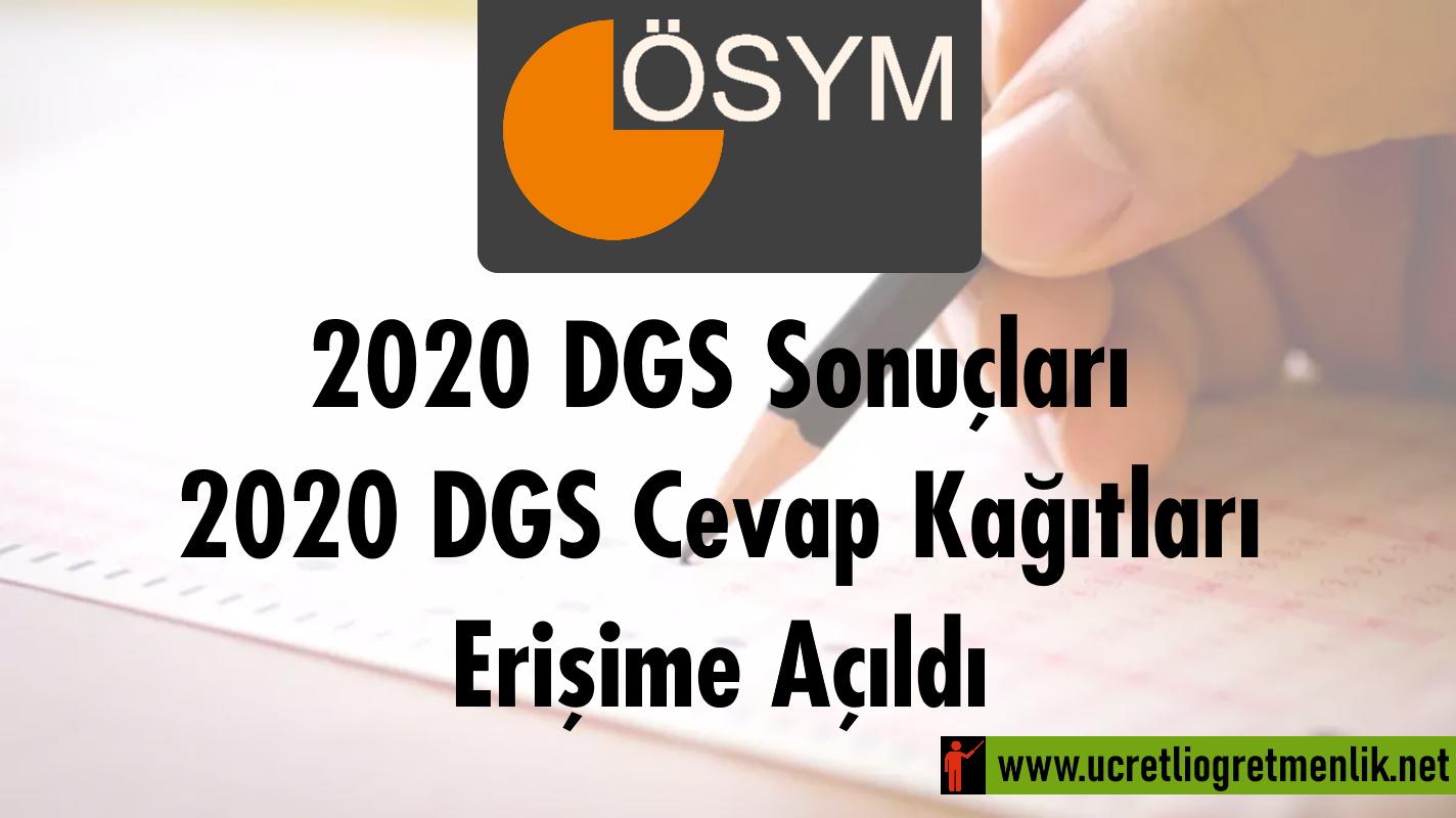 2020 DGS Sonuçları ve Cevap Kağıtları Açıklandı