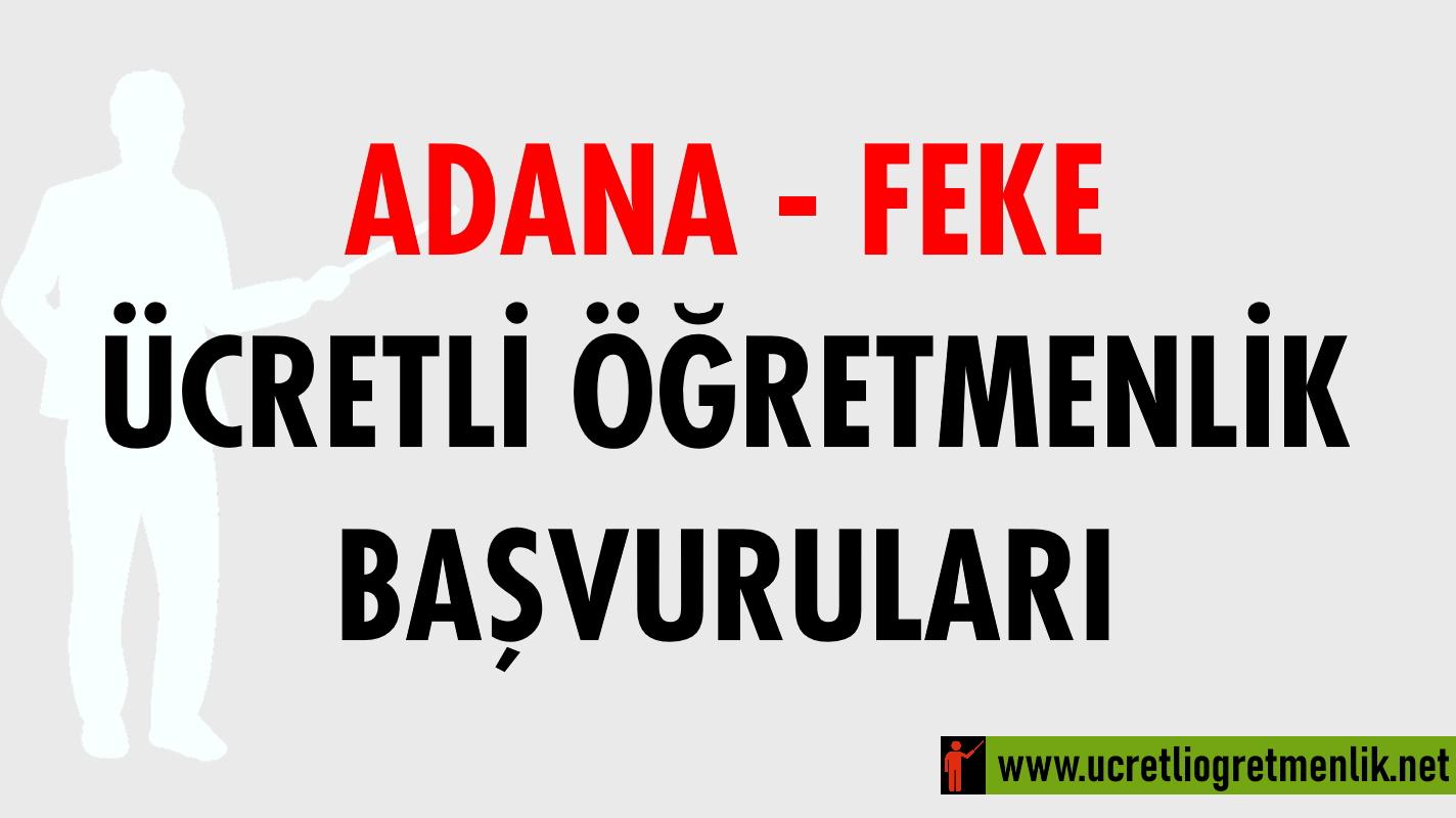 Adana Feke Ücretli Öğretmenlik Başvuruları (2020-2021)