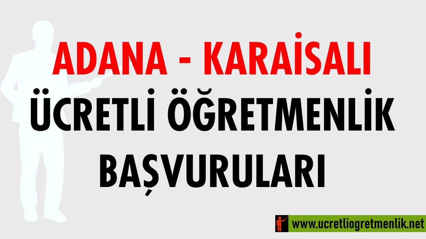 Adana Karaisalı Ücretli Öğretmenlik Başvuruları (2020-2021)