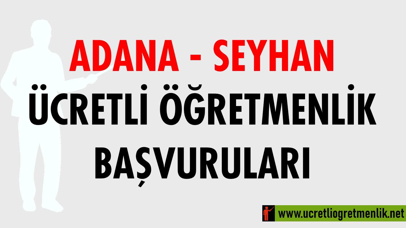 Adana Seyhan Ücretli Öğretmenlik Başvuruları (2020-2021)