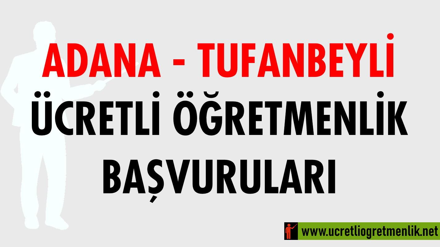 Adana Tufanbeyli Ücretli Öğretmenlik Başvuruları (2020-2021)