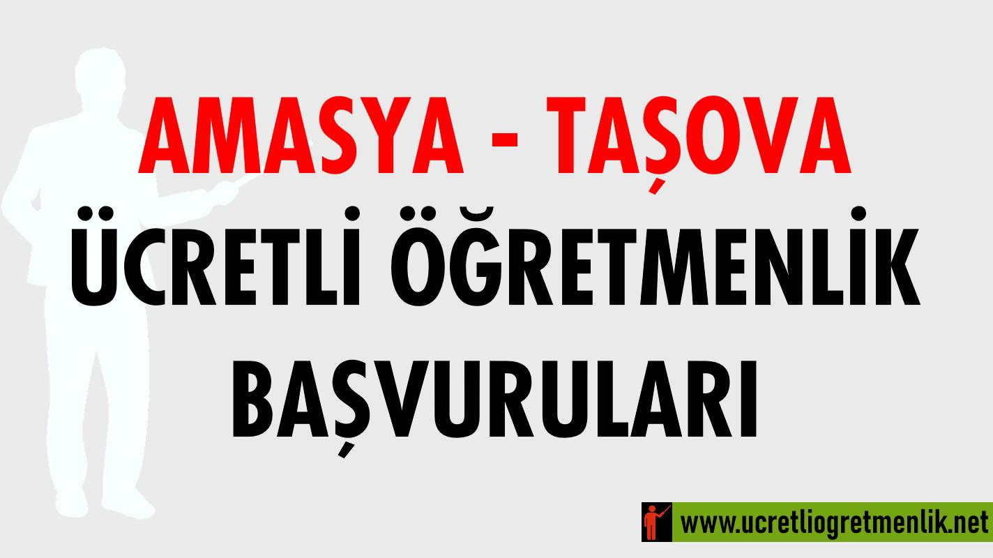 Amasya Taşova Ücretli Öğretmenlik Başvuruları (2020-2021)