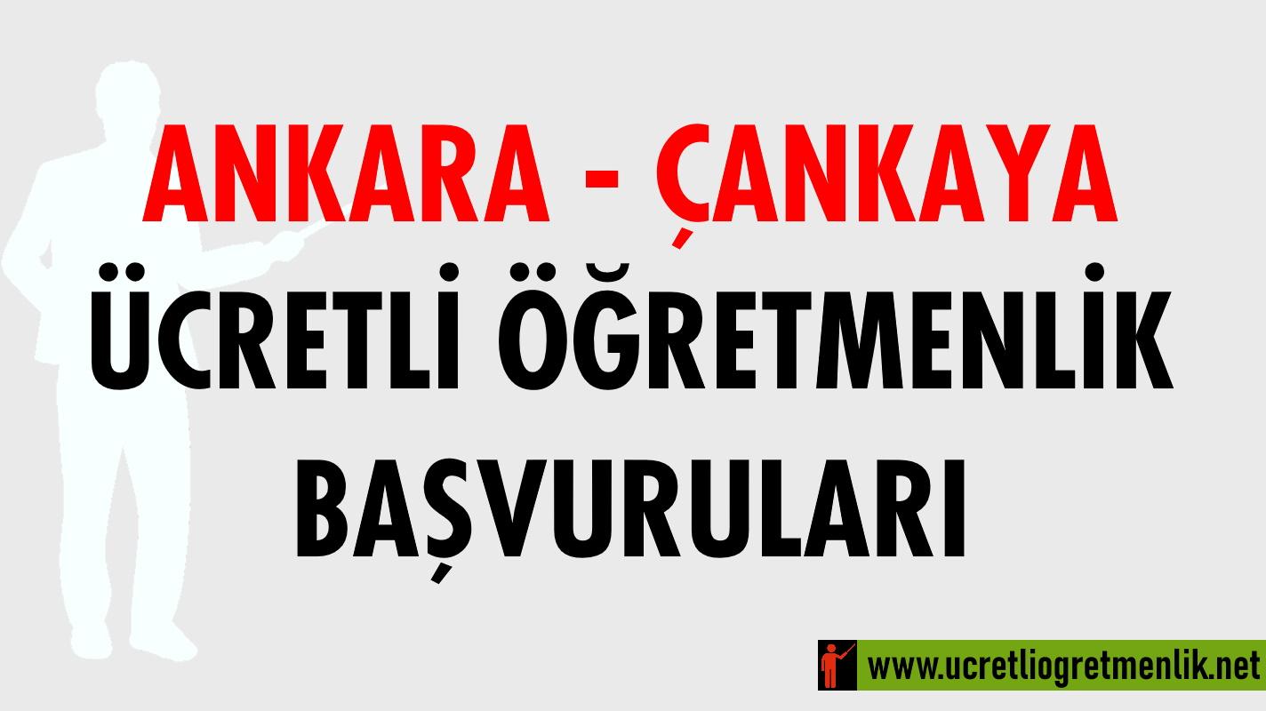 Ankara Çankaya Ücretli Öğretmenlik Başvuruları (2020-2021)