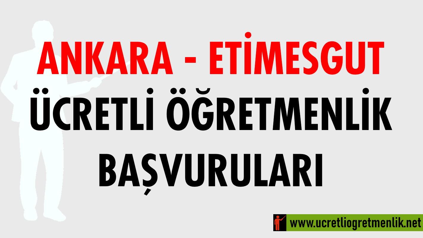 Ankara Etimesgut Ücretli Öğretmenlik Başvuruları (2020-2021)