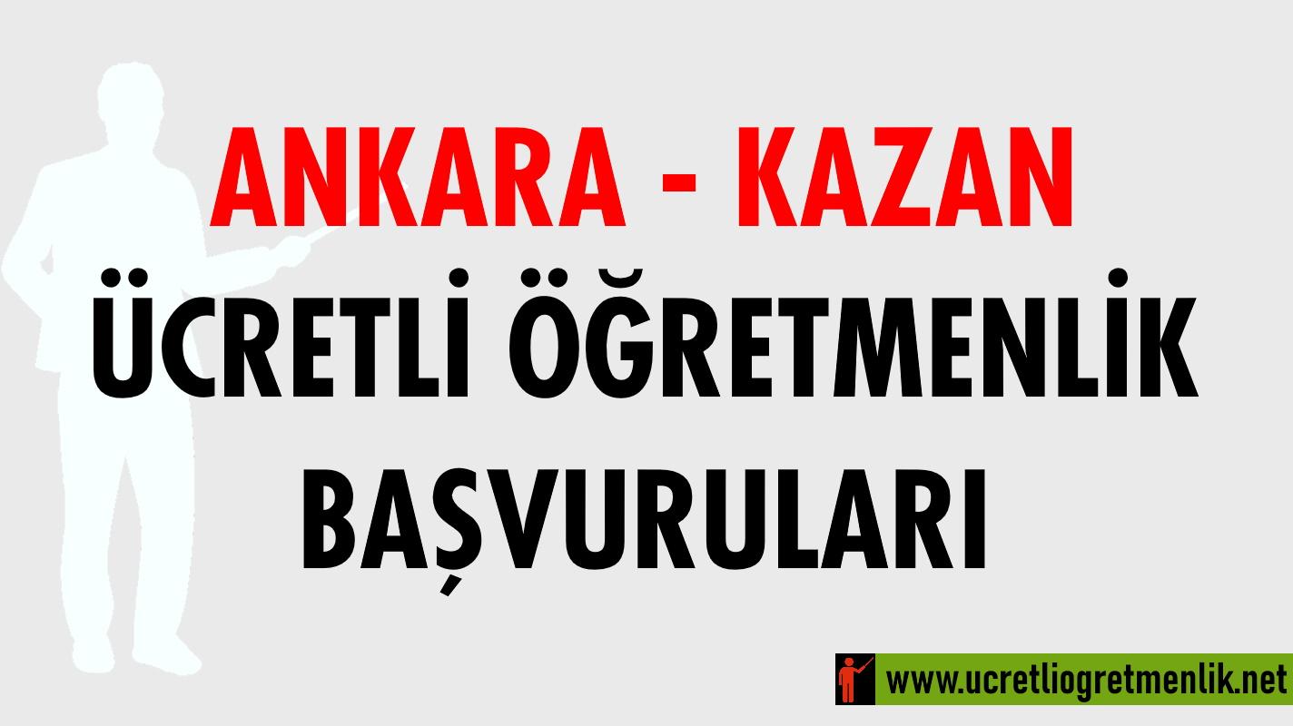 Ankara Kazan Ücretli Öğretmenlik Başvuruları (2020-2021)