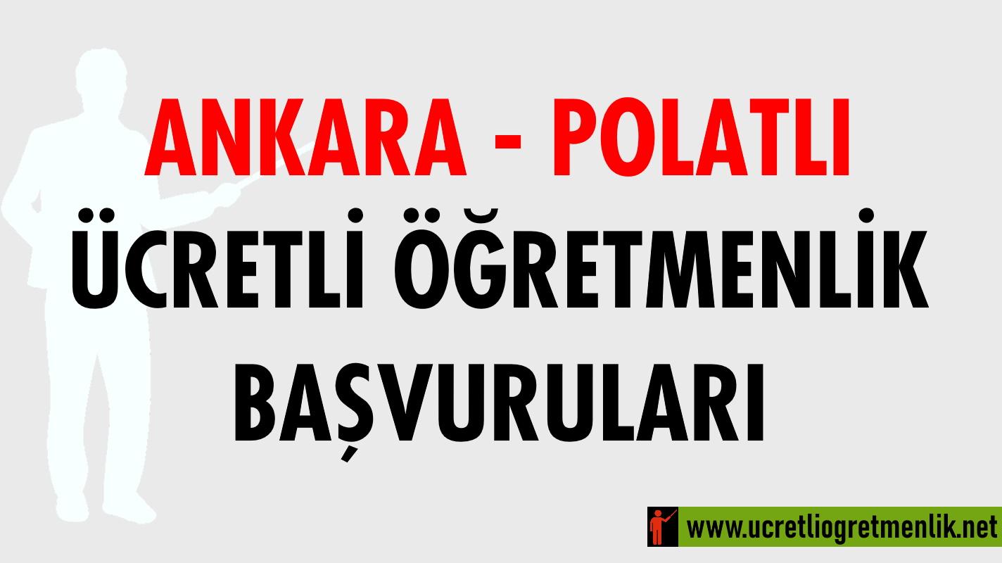 Ankara Polatlı Ücretli Öğretmenlik Başvuruları (2020-2021)
