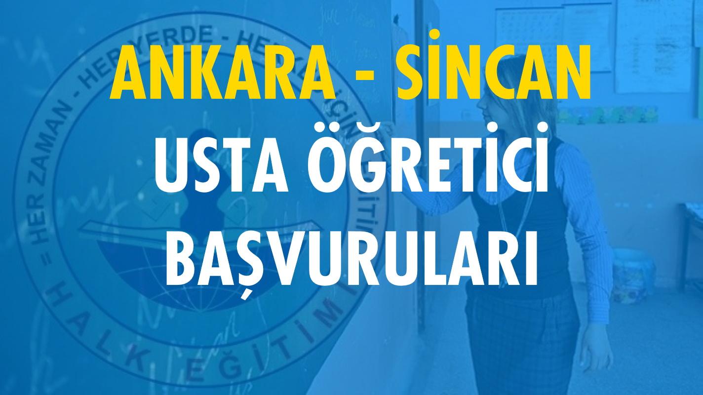 Ankara Sincan Usta Öğretici Başvuruları (2020-2021)