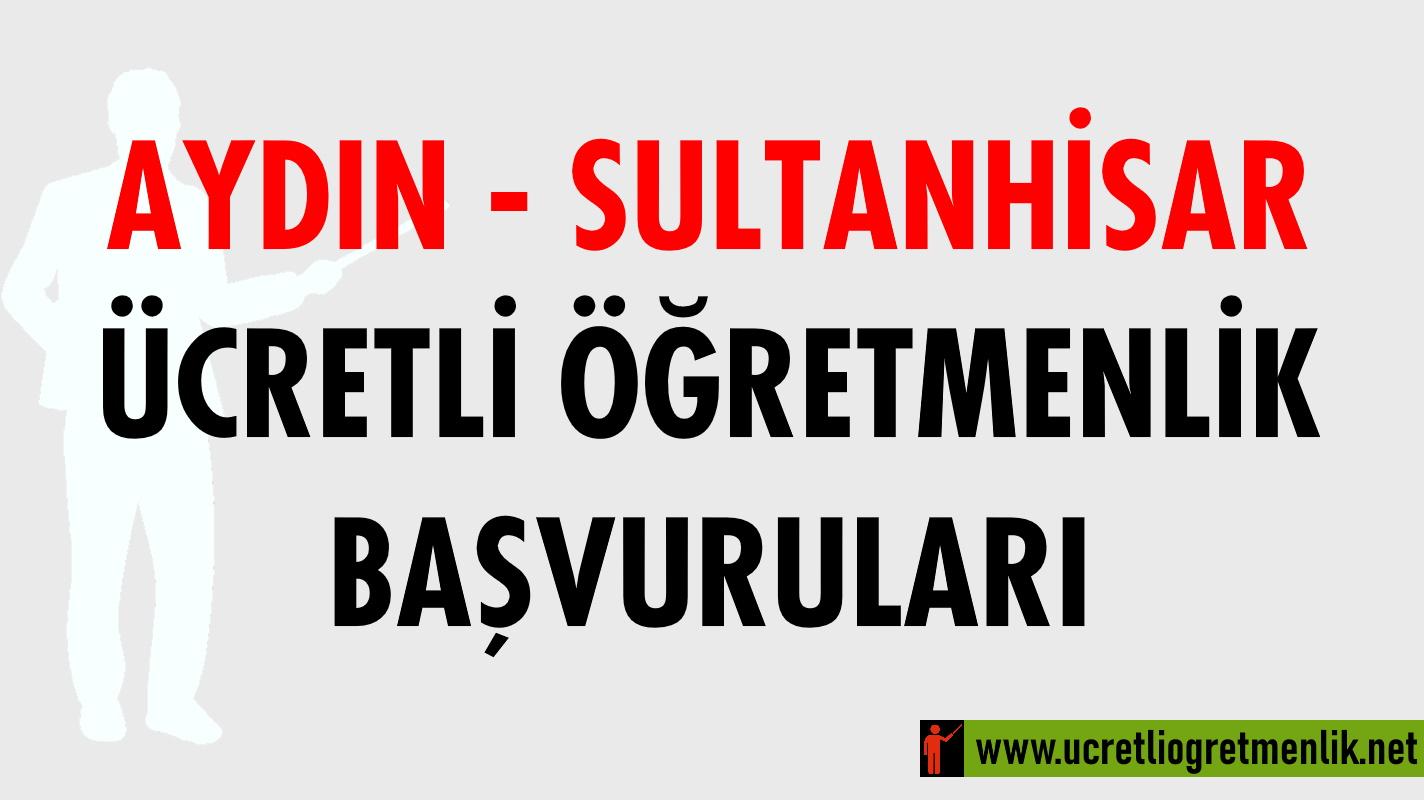 Aydın Sultanhisar Ücretli Öğretmenlik Başvuruları (2020-2021)