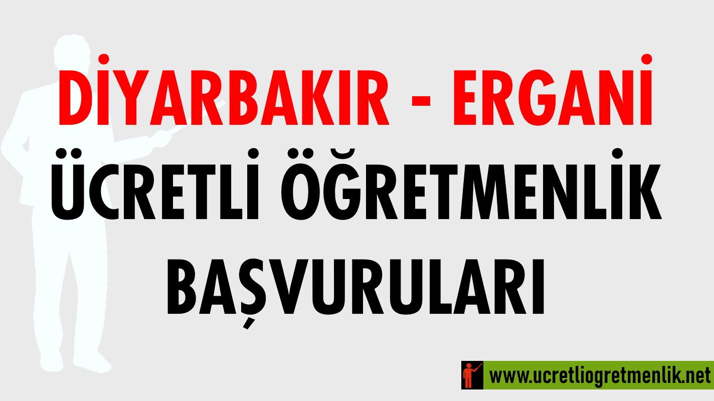 Diyarbakır Ergani Ücretli Öğretmenlik Başvuruları (2020-2021)