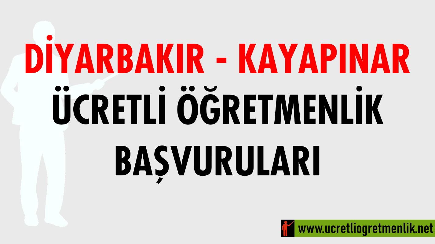 Diyarbakır Kayapınar Ücretli Öğretmenlik Başvuruları (2020-2021)