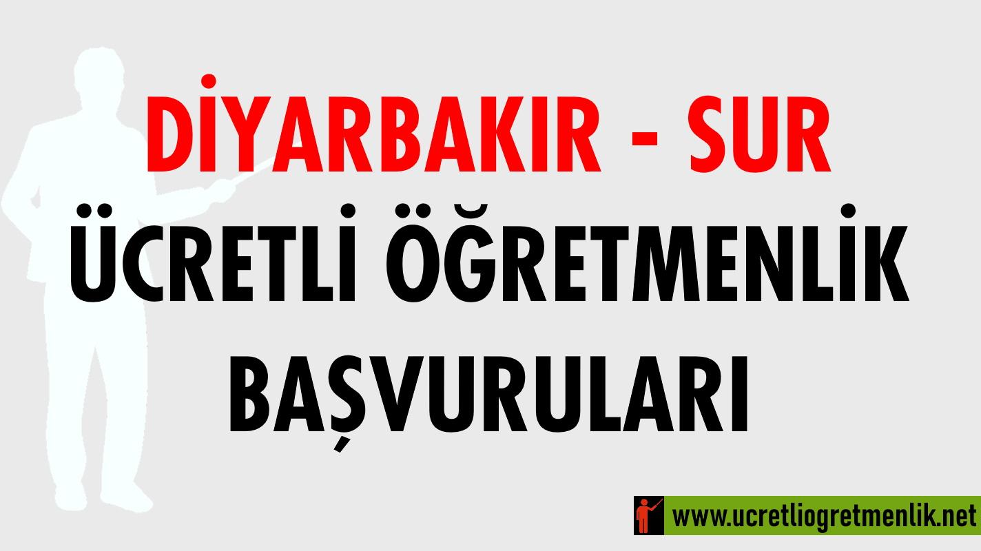 Diyarbakır Sur Ücretli Öğretmenlik Başvuruları (2020-2021)