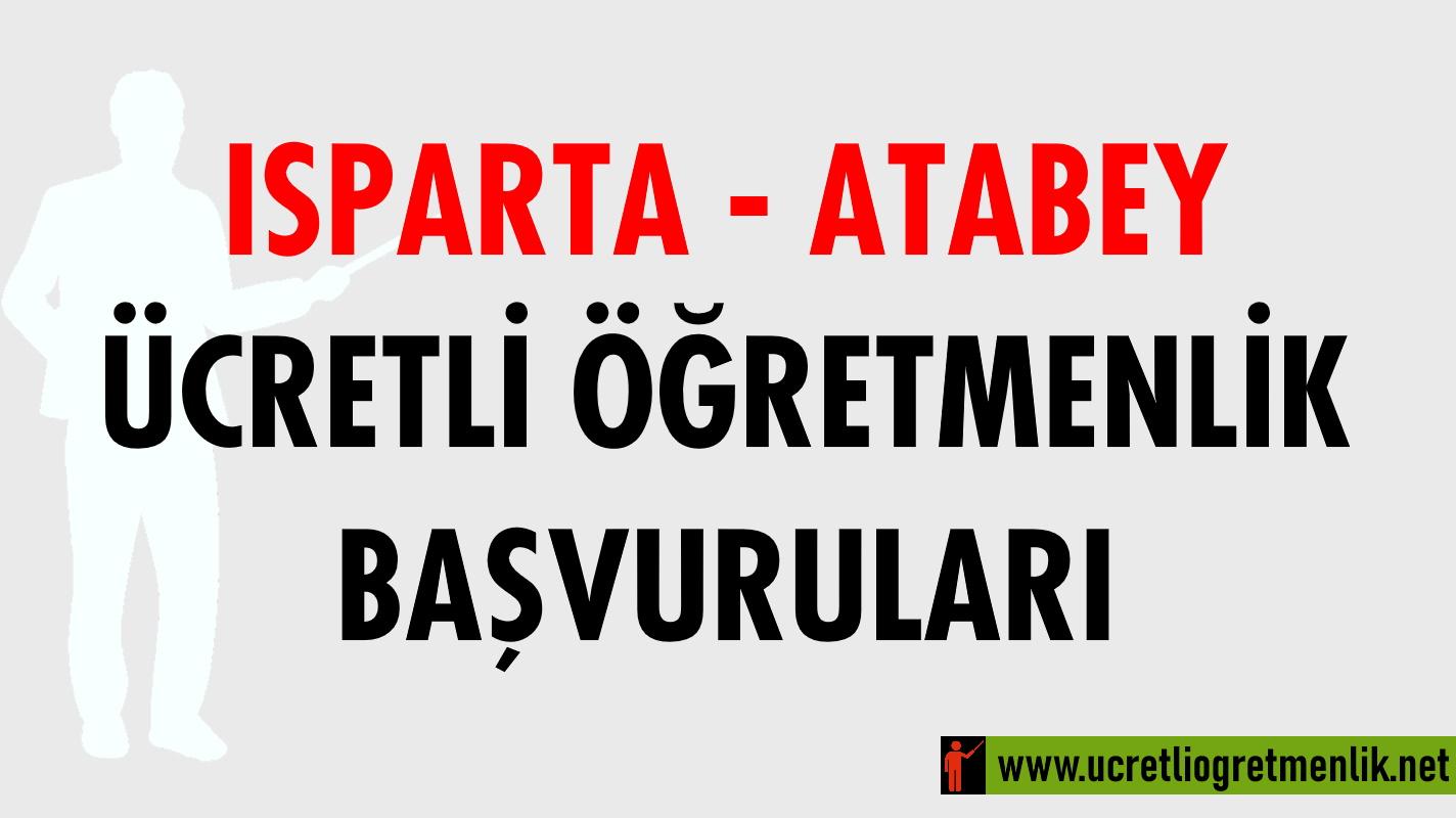 Isparta Atabey Ücretli Öğretmenlik Başvuruları (2020-2021)