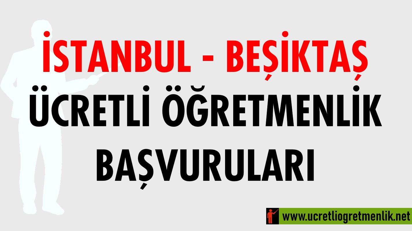 İstanbul Beşiktaş Ücretli Öğretmenlik Başvuruları (2020-2021)