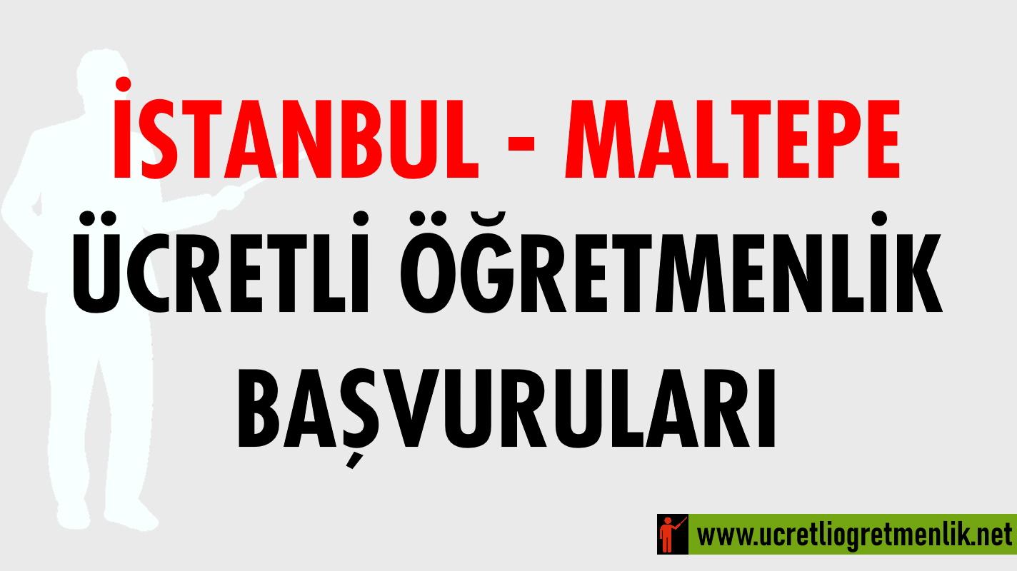 İstanbul Maltepe Ücretli Öğretmenlik Başvuruları (2020-2021)