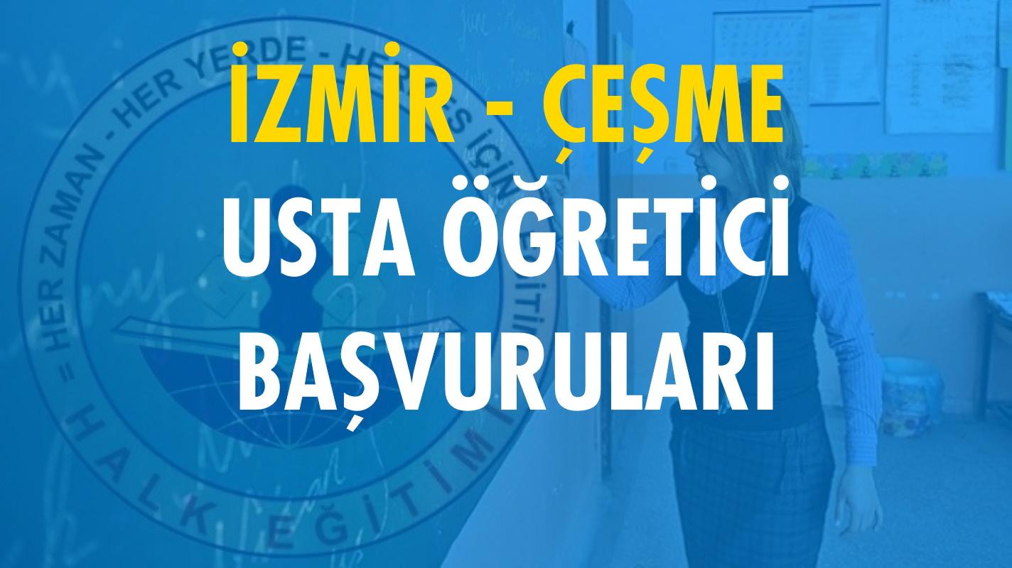 İzmir Çeşme Usta Öğretici Başvuruları (2020-2021)