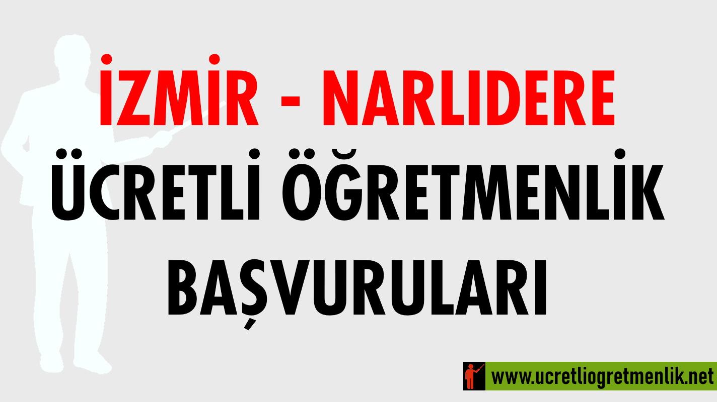 İzmir Narlıdere Ücretli Öğretmenlik Başvuruları (2020-2021)