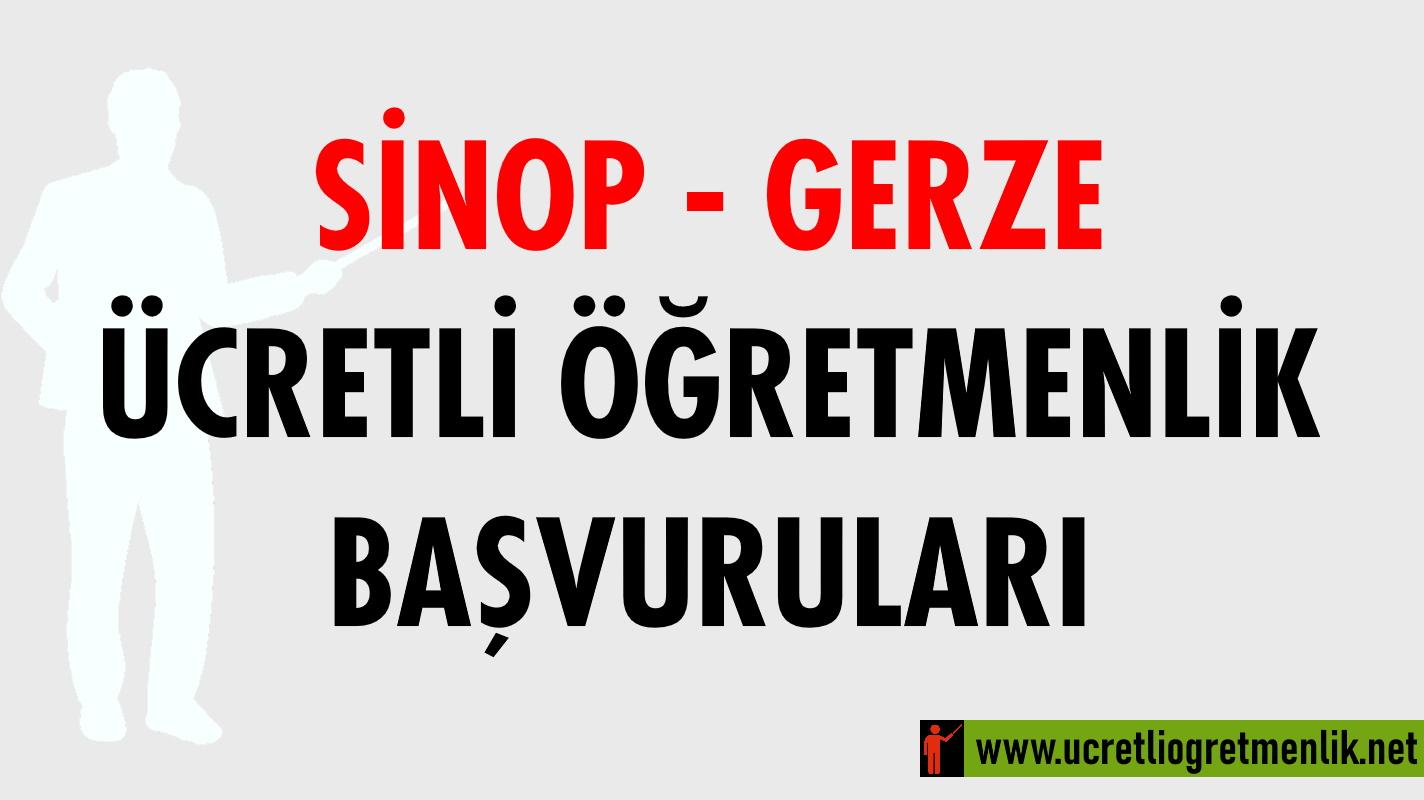 Sinop Gerze Ücretli Öğretmenlik Başvuruları (2020-2021)