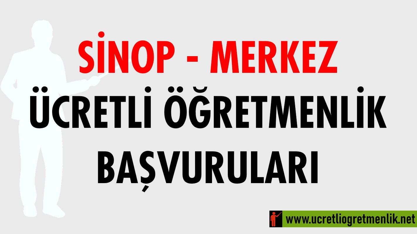 Sinop Merkez Ücretli Öğretmenlik Başvuruları (2020-2021)