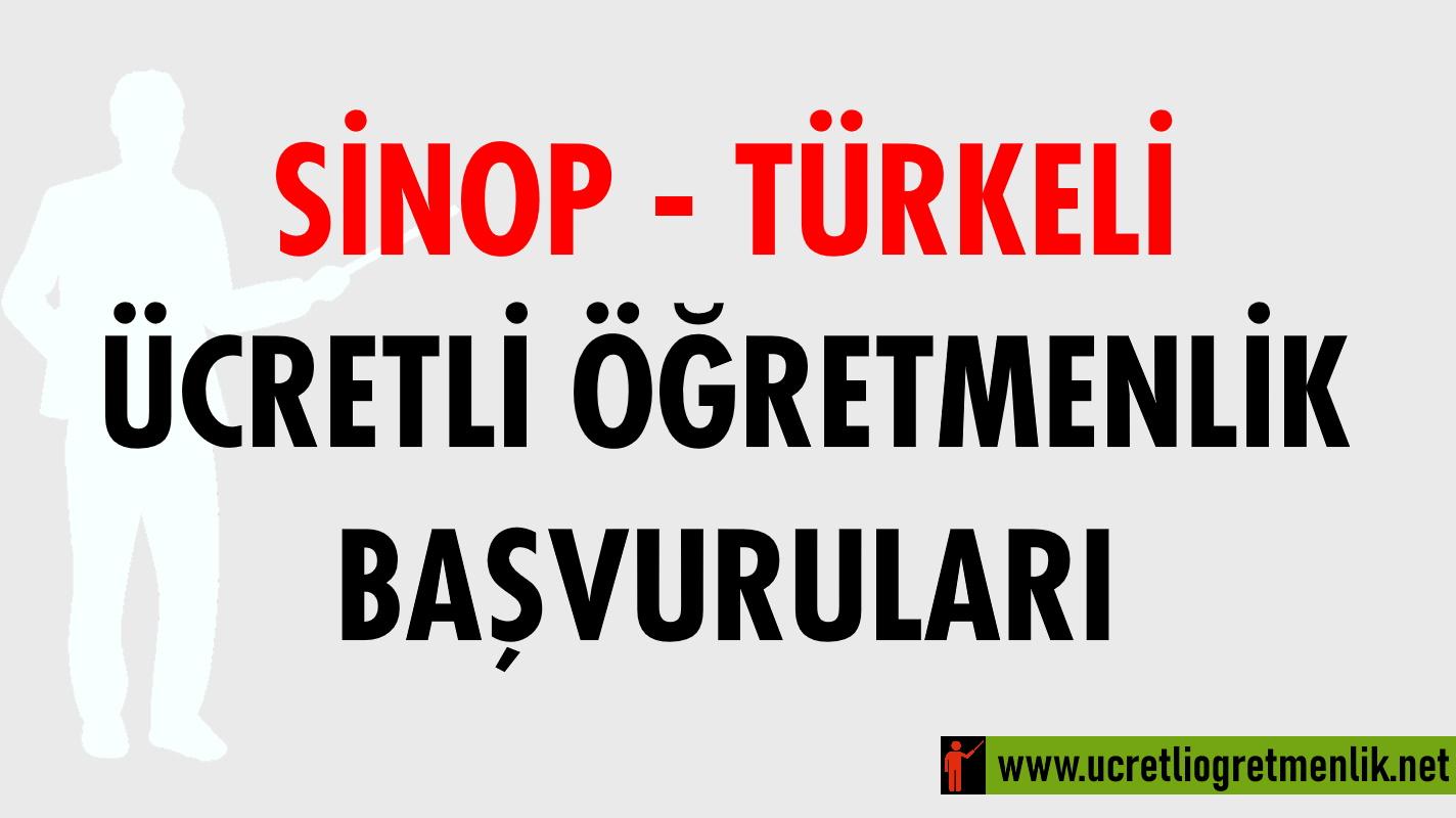 Sinop Türkeli Ücretli Öğretmenlik Başvuruları (2020-2021)