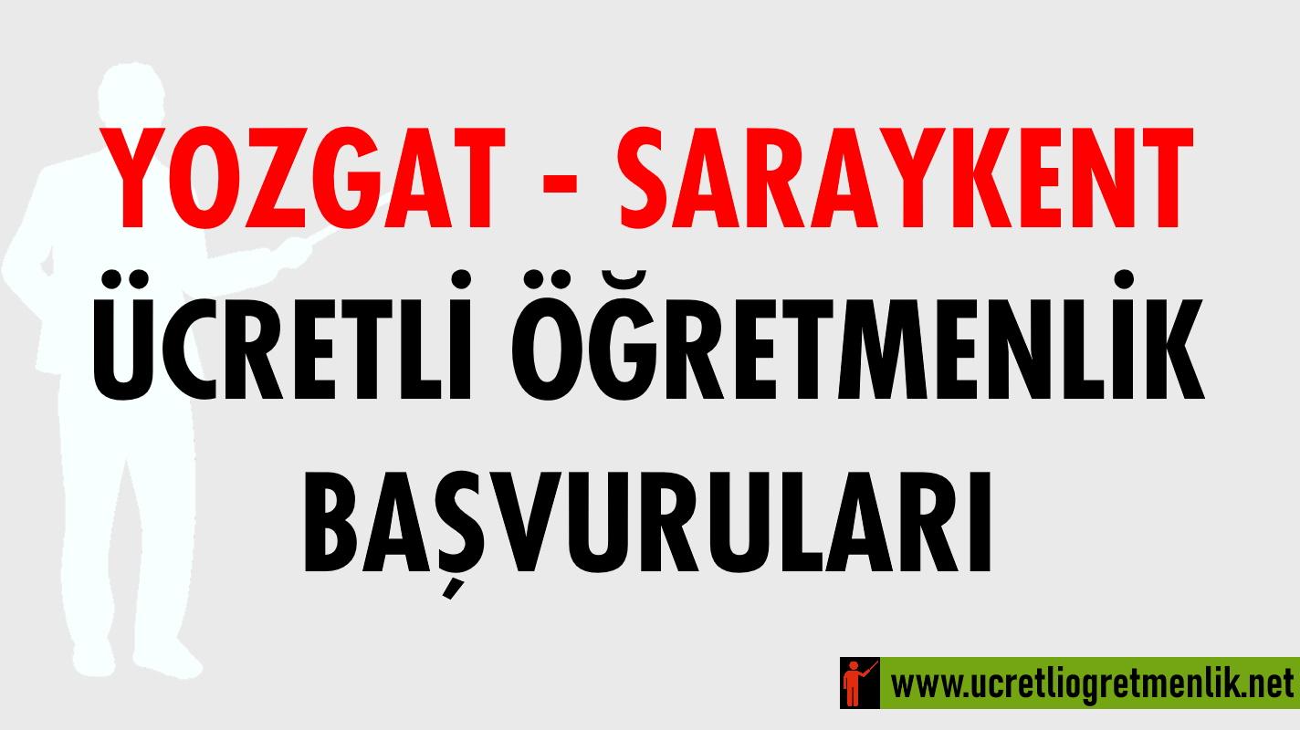 Yozgat Saraykent Ücretli Öğretmenlik Başvuruları (2020-2021)