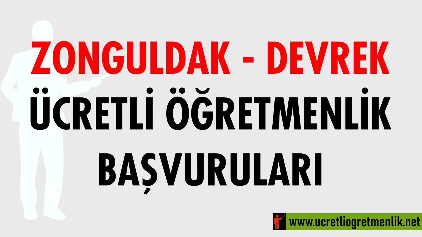 Zonguldak Devrek Ücretli Öğretmenlik Başvuruları (2020-2021)